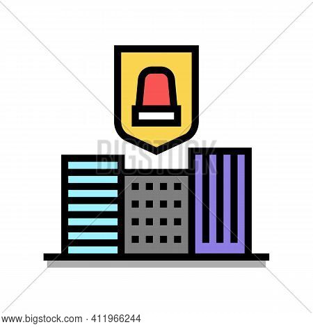 City Urban Protect Color Icon Vector. City Urban Protect Sign. Isolated Symbol Illustration