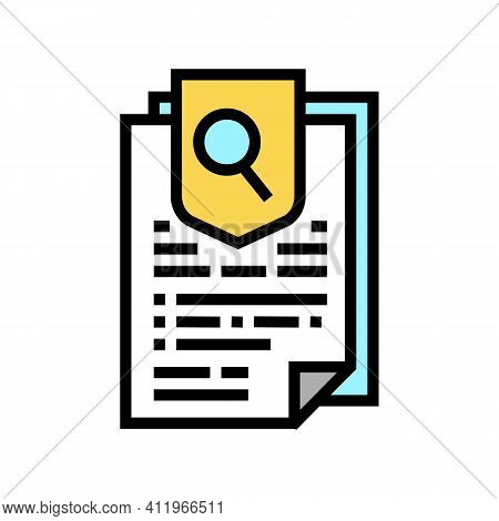 Agreement Research And Health Protect Color Icon Vector. Agreement Research And Health Protect Sign.