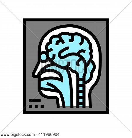 Magnetic Resonance Imaging Radiology Color Icon Vector. Magnetic Resonance Imaging Radiology Sign. I