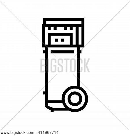 Mobile Air Compressor Line Icon Vector. Mobile Air Compressor Sign. Isolated Contour Symbol Black Il