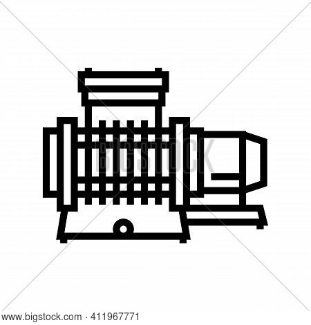 Membrane Compressor Line Icon Vector. Membrane Compressor Sign. Isolated Contour Symbol Black Illust