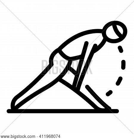 Stretch Pilates Icon. Outline Stretch Pilates Vector Icon For Web Design Isolated On White Backgroun