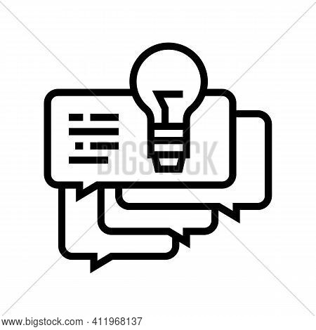 Idea For Ask Customers About Service Line Icon Vector. Idea For Ask Customers About Service Sign. Is