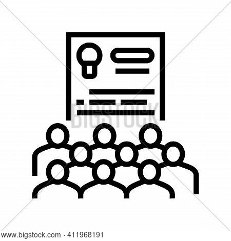User Agreement Crowdsoursing Line Icon Vector. User Agreement Crowdsoursing Sign. Isolated Contour S
