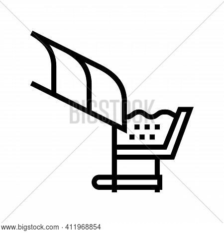 Roof Drainage System Line Icon Vector. Roof Drainage System Sign. Isolated Contour Symbol Black Illu