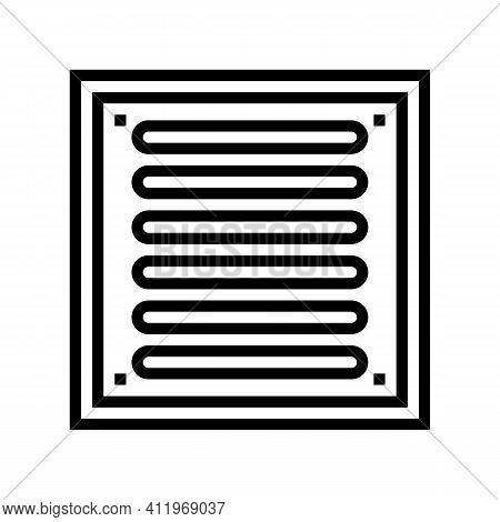 Bathroom Drainage Hole Line Icon Vector. Bathroom Drainage Hole Sign. Isolated Contour Symbol Black