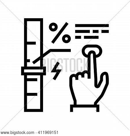Economy And Energy Saving Line Icon Vector. Economy And Energy Saving Sign. Isolated Contour Symbol