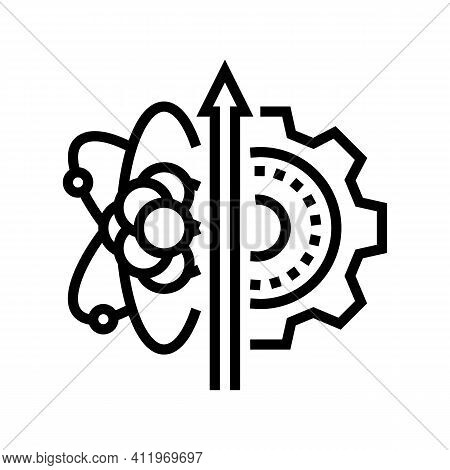 Biology Genetic Process Line Icon Vector. Biology Genetic Process Sign. Isolated Contour Symbol Blac