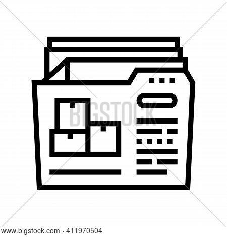 Documentation Of Logistics Company Line Icon Vector. Documentation Of Logistics Company Sign. Isolat