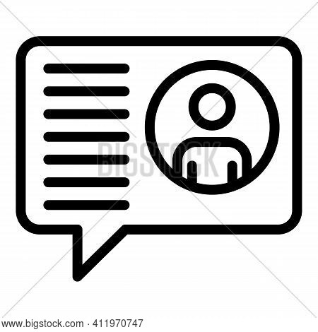 Chat Target Audience Icon. Outline Chat Target Audience Vector Icon For Web Design Isolated On White