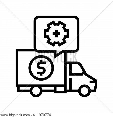 Cost Of Logistics Services Line Icon Vector. Cost Of Logistics Services Sign. Isolated Contour Symbo