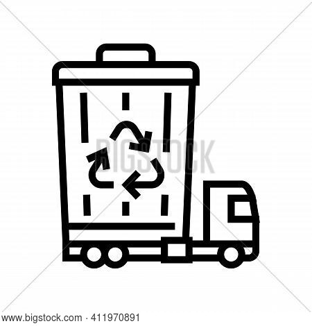 Garbage Removal And Disposal Logistics Line Icon Vector. Garbage Removal And Disposal Logistics Sign