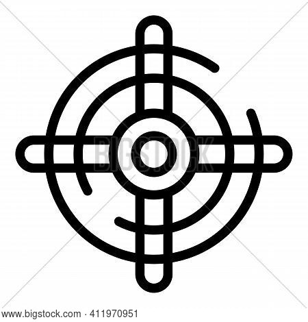 Modern Target Audience Icon. Outline Modern Target Audience Vector Icon For Web Design Isolated On W