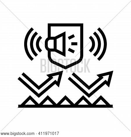 Noise Protect Layer Line Icon Vector. Noise Protect Layer Sign. Isolated Contour Symbol Black Illust