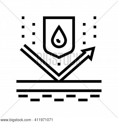 Waterproof Protect Layer Line Icon Vector. Waterproof Protect Layer Sign. Isolated Contour Symbol Bl