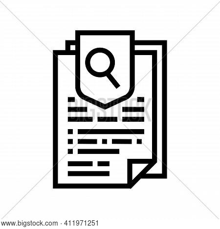 Agreement Research And Health Protect Line Icon Vector. Agreement Research And Health Protect Sign.