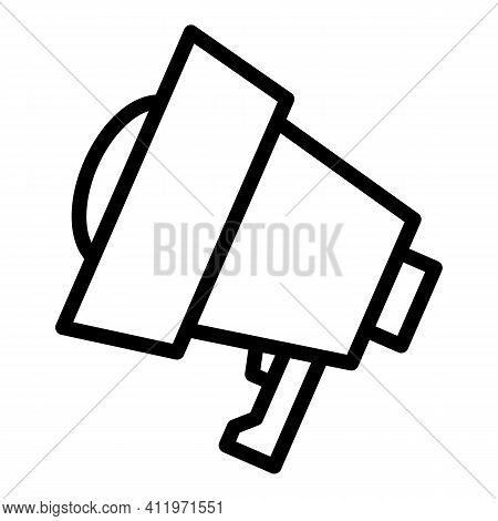 Megaphone Target Audience Icon. Outline Megaphone Target Audience Vector Icon For Web Design Isolate