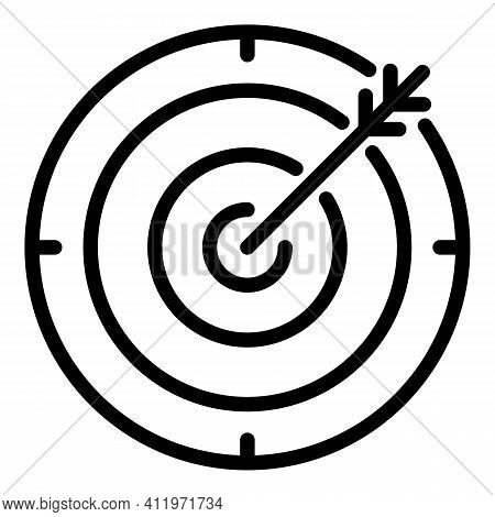 Arch Target Icon. Outline Arch Target Vector Icon For Web Design Isolated On White Background