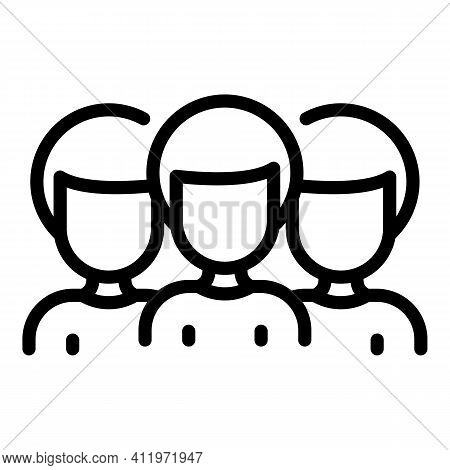 Public Group Target Audience Icon. Outline Public Group Target Audience Vector Icon For Web Design I
