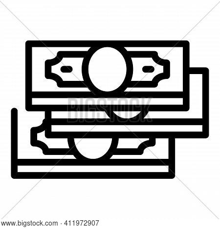 Atm Cash Money Transfer Icon. Outline Atm Cash Money Transfer Vector Icon For Web Design Isolated On