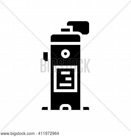 Industrial Air Compressor Glyph Icon Vector. Industrial Air Compressor Sign. Isolated Contour Symbol