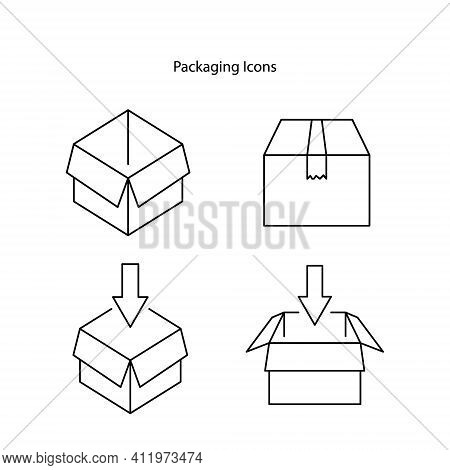 Package Icon Set Isolated On White Background. Package Icon Trendy And Modern Package Symbol For Log