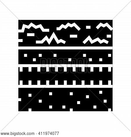 Underground Drainage System Glyph Icon Vector. Underground Drainage System Sign. Isolated Contour Sy