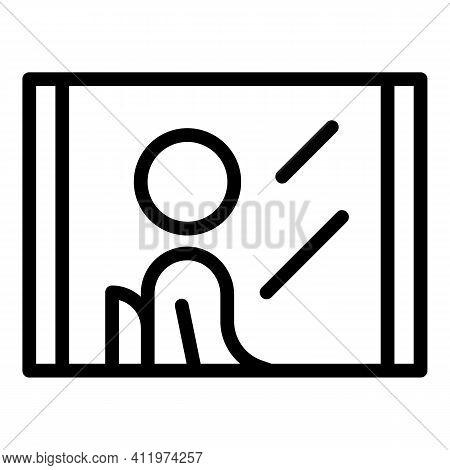 Window Passenger Icon. Outline Window Passenger Vector Icon For Web Design Isolated On White Backgro