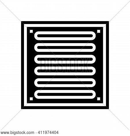 Bathroom Drainage Hole Glyph Icon Vector. Bathroom Drainage Hole Sign. Isolated Contour Symbol Black