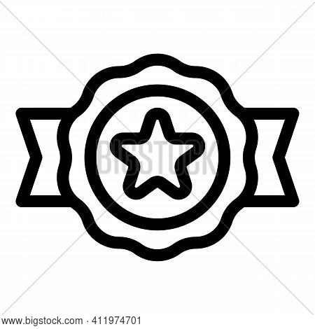 Emblem Online Voucher Icon. Outline Emblem Online Voucher Vector Icon For Web Design Isolated On Whi