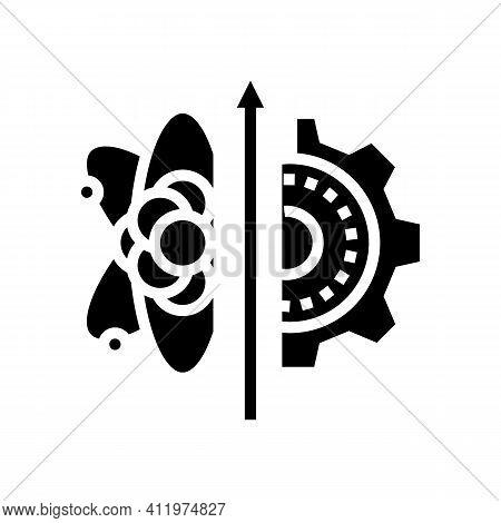 Biology Genetic Process Glyph Icon Vector. Biology Genetic Process Sign. Isolated Contour Symbol Bla