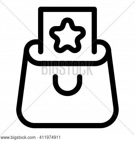 Wallet Online Voucher Icon. Outline Wallet Online Voucher Vector Icon For Web Design Isolated On Whi