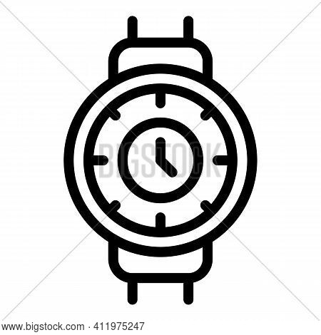 Hour Time Management Icon. Outline Hour Time Management Vector Icon For Web Design Isolated On White