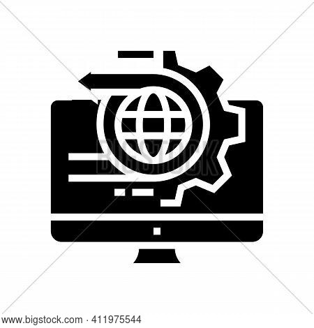 International Logistics Service Glyph Icon Vector. International Logistics Service Sign. Isolated Co