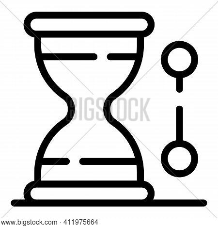 Hourglass Time Management Icon. Outline Hourglass Time Management Vector Icon For Web Design Isolate