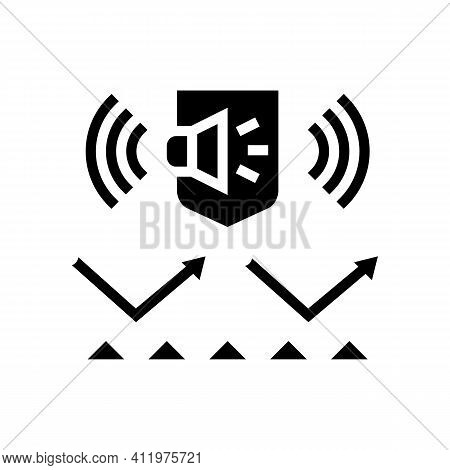 Noise Protect Layer Glyph Icon Vector. Noise Protect Layer Sign. Isolated Contour Symbol Black Illus