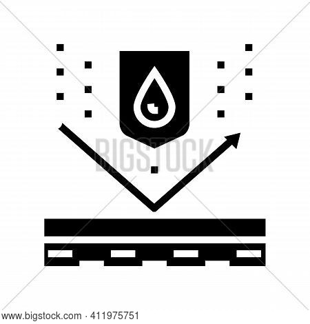 Waterproof Protect Layer Glyph Icon Vector. Waterproof Protect Layer Sign. Isolated Contour Symbol B