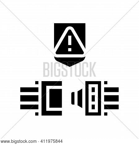 Wire Cable Protect Glyph Icon Vector. Wire Cable Protect Sign. Isolated Contour Symbol Black Illustr
