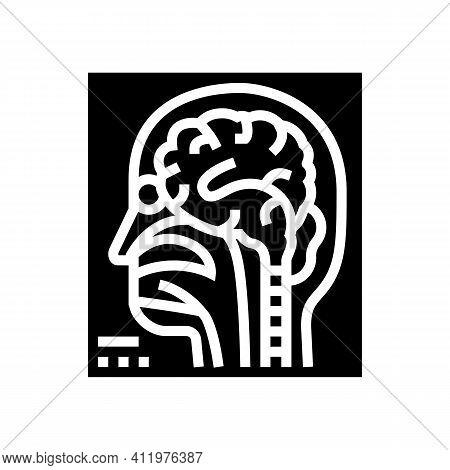 Magnetic Resonance Imaging Radiology Glyph Icon Vector. Magnetic Resonance Imaging Radiology Sign. I