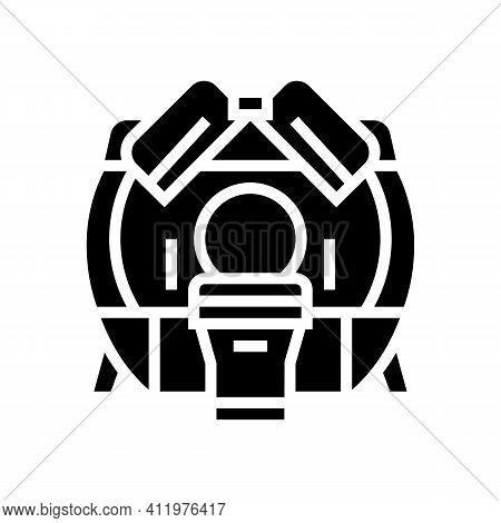 Mri Hospital Radiology Equipment Glyph Icon Vector. Mri Hospital Radiology Equipment Sign. Isolated