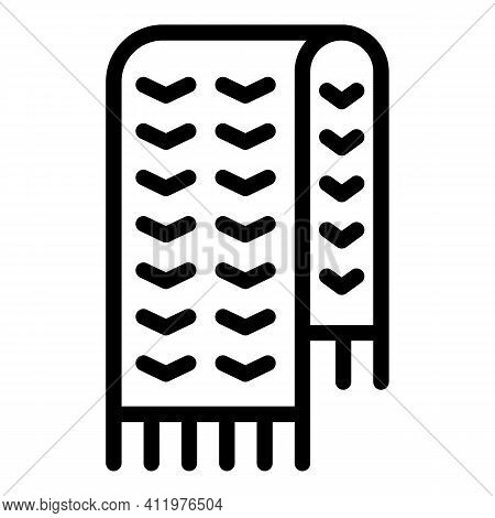 Knitting Scarf Icon. Outline Knitting Scarf Vector Icon For Web Design Isolated On White Background