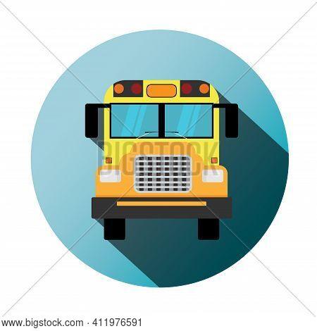 Yellow School Bus Illustration, School Bus Icon, School Bus, School Supplies.
