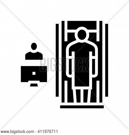 Hospital Cabinet Radiology Glyph Icon Vector. Hospital Cabinet Radiology Sign. Isolated Contour Symb