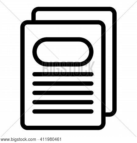 Profile Page Interface Icon. Outline Profile Page Interface Vector Icon For Web Design Isolated On W