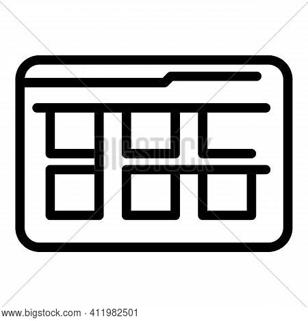 Selection Interface Icon. Outline Selection Interface Vector Icon For Web Design Isolated On White B