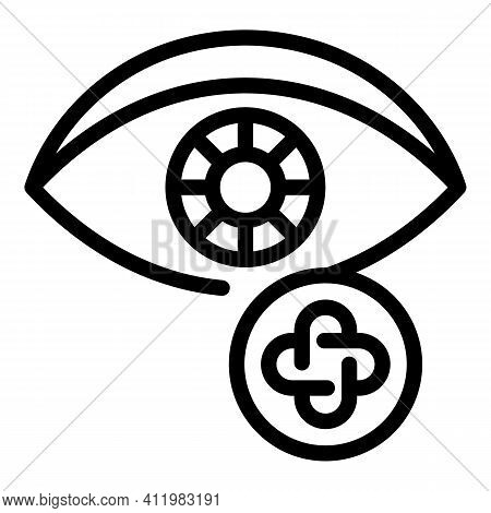 Optometry Icon. Outline Optometry Vector Icon For Web Design Isolated On White Background