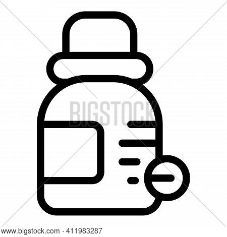 Optometry Eye Dropper Icon. Outline Optometry Eye Dropper Vector Icon For Web Design Isolated On Whi