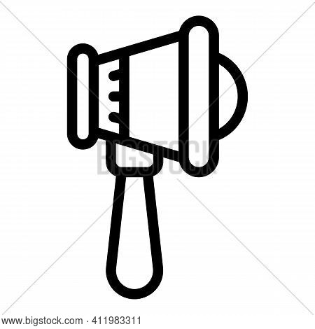 Optometry Megaphone Icon. Outline Optometry Megaphone Vector Icon For Web Design Isolated On White B