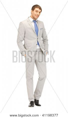 bright picture of handsome man in suit.