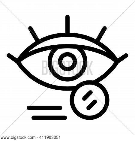 Eyes Cataract Icon. Outline Eyes Cataract Vector Icon For Web Design Isolated On White Background